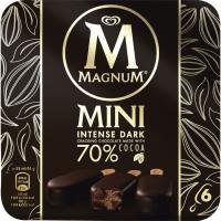Bombón mini intenso dark MAGNUM, 6 unid., caja 264 g