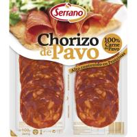 Chorizo de pavo SERRANO, sobre 100 g