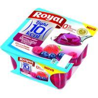 Gelatina de frutas del bosque 0% azúcar ROYAL, pack 4x100 g