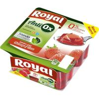 Gelatina antioxidante de fresa 0% azúcar ROYAL, pack 4x100 g