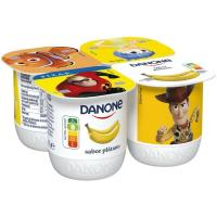 Yogur sabor a plátano DANONE, pack 4x125 g