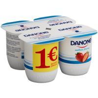 Yogur sabor a fresa DANONE, pack 4x125 g