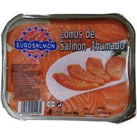 Lomitos de salmón ahumado EUROSALMÓN, bandeja 100 g