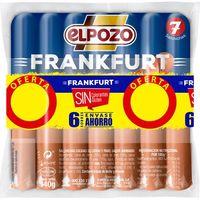 Salchicha Frankfurt ELPOZO, pack 6x140 g