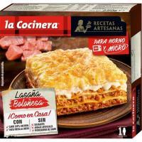 Lasaña boloñesa LA COCINERA, caja 250 g