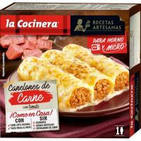Canelones de carne LA COCINERA, caja 250 g