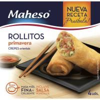 Rollitos De Primavera Crujientes MAHESO, caja 225 g