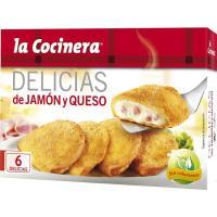 Delicias de jamón-queso LA COCINERA, caja 300 g