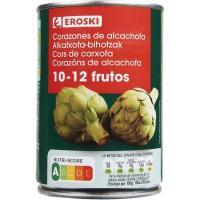 Corazón alcachofa al natural 10/12 frutos EROSKI, lata 240 g