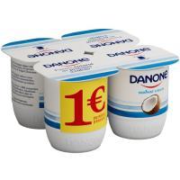 Yogur de coco DANONE, pack 4x125 g
