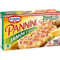 Panninis de jamón-queso DR. OETKER, pack 2x125 g