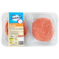Hamburguesa de pollo EROSKI Sannia, 4 unid., bandeja 320 g