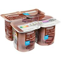 Postre sabor chocolate EROSKI, pack 4x125 g