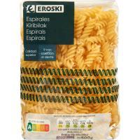 Pasta de espirales EROSKI, paquete 500 g