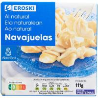 Navajuela al natural mediana 8/14 piezas EROSKI, lata 63 g