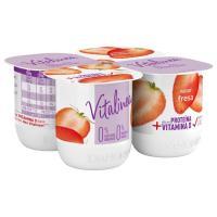 Vitalínea de fresa DANONE, pack 4x125 g