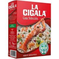 Arroz redondo extra LA CIGALA, caja 1 kg