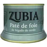 Paté de foie ZUBIA, lata 125 g