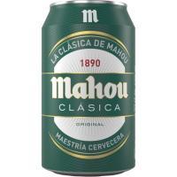 Cerveza clásica MAHOU, lata 33 cl