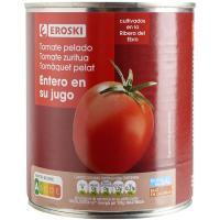 Tomate natural entero pelado EROSKI, lata 780 g
