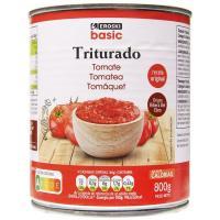 Tomate triturado EROSKI basic, lata 800 g