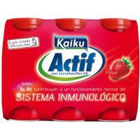 Actif de fresa KAIKU, pack 6x70 ml