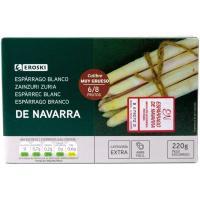 Espárrago extra IGP Navarra 6/8 piezas EROSKI, lata 220 g