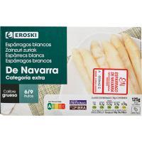 Espárrago grueso IGP Navarra 6/9 piezas EROSKI, lata 125 g