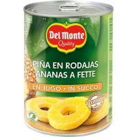 Piña en rodajas en su jugo natural DEL MONTE, lata 350 g