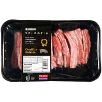 Costilla de cerdo ibérico Eroski SELEQTIA, bandeja aprox. 400 g