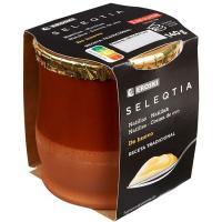 Natillas de huevo Eroski SELEQTIA, tarro de barro 140 g