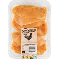 Pechugas de pollo fileteadas Eroski NATUR, bandeja aprox. 450 g