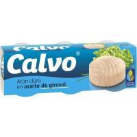 Atún claro en aceite de girasol CALVO, pack 3x80 g