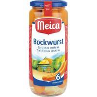 Salchichas Bockwurst MEICA 6 unidades, frasco 250 gr