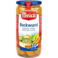 Salchichas Bockwurst MEICA 10 unidades, frasco 500 gr