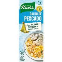 Caldo de pescado en pastillas KNORR, 12 pastillas. caja 120 g