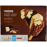Mini bombón Variety EROSKI, 8 unid., caja 344 g
