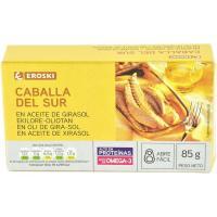 Filete de caballa en aceite de girasol EROSKI, lata 85 g