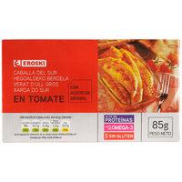 Caballa con tomate EROSKI, lata 85 g