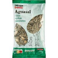 Pipas de girasol al aguasal EROSKI basic, bolsa 200 g