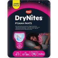 Braga noche niña 4-7 años (17-30kg) DRYNITES, paquete 16 unid.