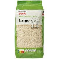 Arroz largo EROSKI basic, paquete 1 kg