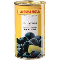 Aceitunas negras sin hueso LA ESPAÑOLA, lata 130 g