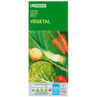 Caldo vegetal EROSKI, 12 pastillas, caja 120 g