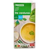 Caldo de verduras EROSKI, brik 1 litro