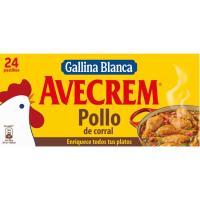 Caldo de pollo AVECREM, 24 pastillas, caja 240 g