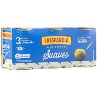 Aceitunas rellenas suaves LA ESPAÑOLA, pack 3x50 g