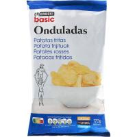 Patatas fritas onduladas EROSKI basic, bolsa 170 g