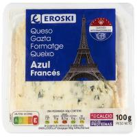 Queso azul EROSKI, tarrina 100 g