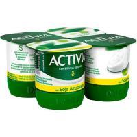Activia de soja natural DANONE, pack 4x125 g